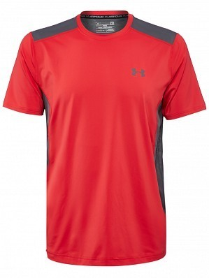 Under Armour Andy Murray ATP Tour Pro Logo Men's Raid Tennis Crew Shirt, Red