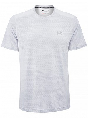 Under Armour Andy Murray ATP Tour Pro Logo Men's Raid Graphic Tennis Crew Shirt, White