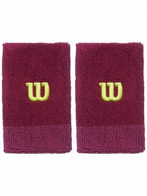 Wilson Pro ATP Player Double Wide Long Tennis Wristbands Purple