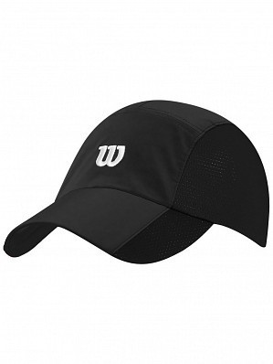 Wilson ATP Master Tour Pro Player Rush Stretch Woven Tennis Cap Hat Black