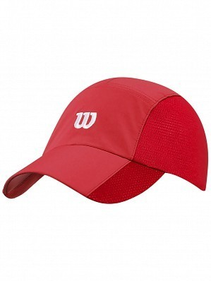 Wilson ATP Master Tour Pro Player Rush Stretch Woven Tennis Cap Hat Red