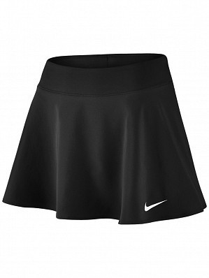 Nike Pro Player WTA Tour Women's Court Pure Flouncy Tennis Skirt, Black