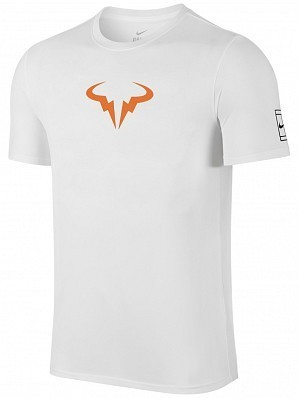 Nike Rafael Nadal 10 French Open Champion Men's Rafa Vamos X Celebration Tennis Tee Shirt, White