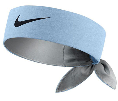 Nike Roger Federer ATP Master Tour Dri-Fit Tie Up Tennis Headband Bandana, Light Blue / Black