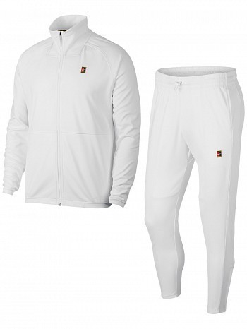 Nike ATP Pro Player Men's Court  Essential Woven Warm Up Tennis Tracksuit White