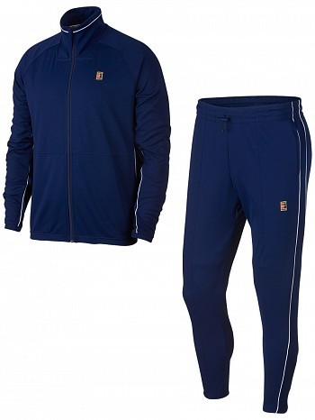 Nike ATP Pro Player Men's Court Essential Woven Warm Up Tennis Tracksuit Blue