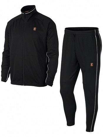 Nike ATP Pro Player Men's Court Essential Woven Warm Up Tennis Tracksuit Black