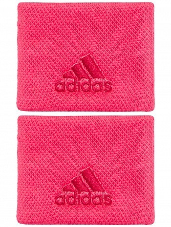 Adidas WTA Pro Player Small Single Wide Logo Tennis Wristbands Red