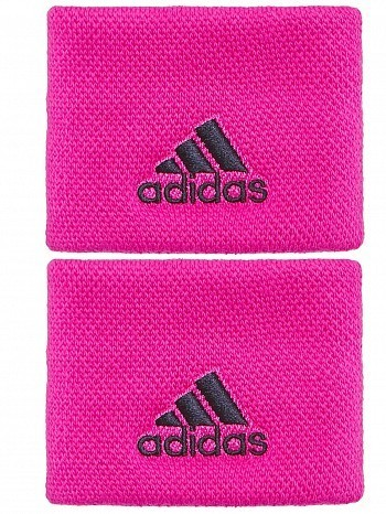 Adidas WTA Pro Player Small Single Wide Logo Tennis Wristbands Pink