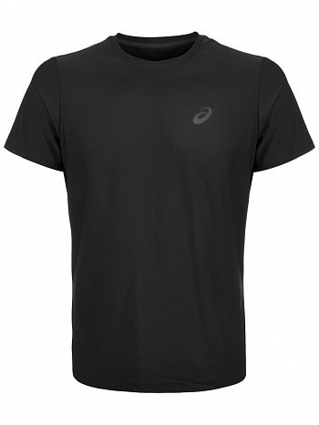 Asics ATP Master Tour Pro Player Men's Essential Tennis Crew Shirt, Black
