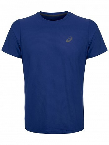 Asics ATP Master Tour Pro Player Men's Essential Tennis Crew Shirt, Blue