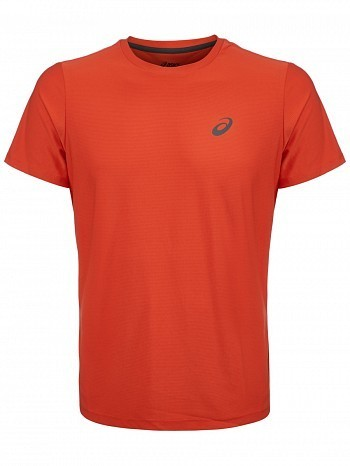 Asics ATP Master Tour Pro Player Men's Essential Tennis Crew Shirt, Orange