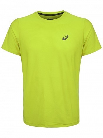 Asics ATP Master Tour Pro Player Men's Essential Tennis Crew Shirt, Yellow