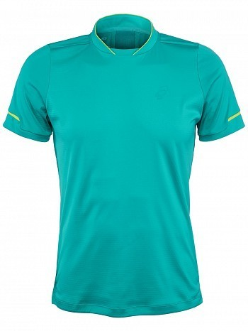 Asics ATP Master Tour Pro Player Men's Athlete Tennis Crew Shirt, Green