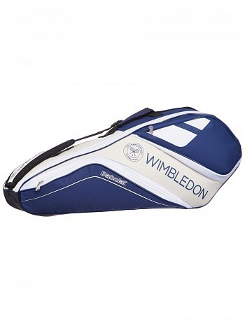 Babolat Wimbledon Open Club 3 Pack Tennis Racket Bag Blue