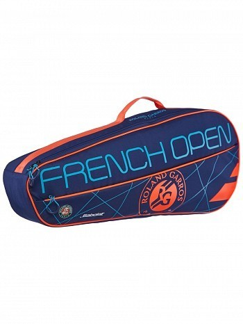 Babolat French Open Club 3 Pack Tennis Racket Bag Blue