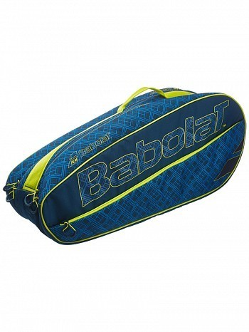 Babolat Classic Essential Club 6 Pack Tennis Racket Bag Blue / Yellow