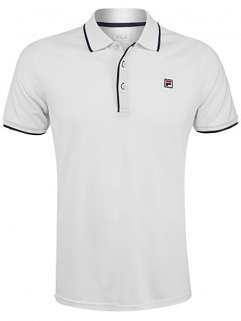 Fila ATP Master Tour Pro Player Men's Parker Tennis Polo Shirt, White
