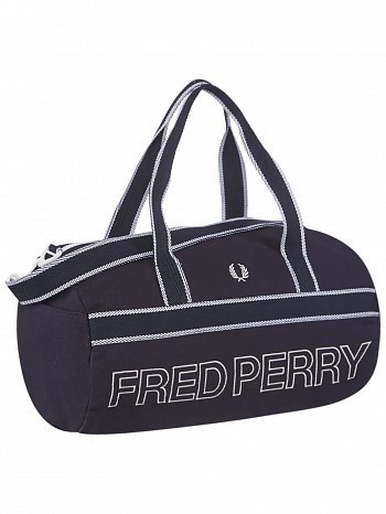 Fred Perry Pro Tour Player Sport Canvas Barrel Bag Navy