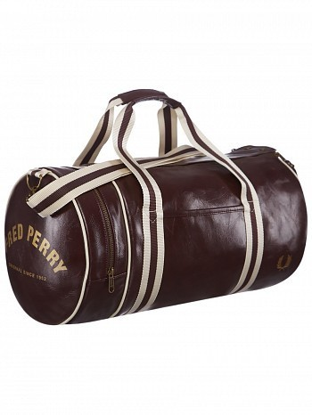 Fred Perry Pro Tour Player Sport Classic Barrel Bag Maroon