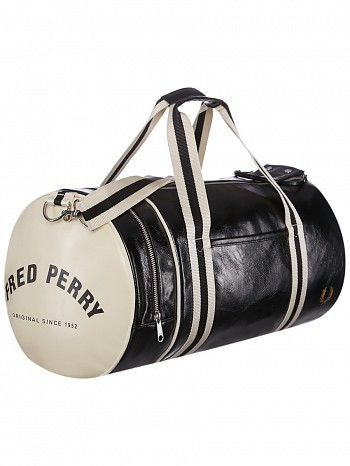 Fred Perry Pro Tour Player Sport Classic Barrel Bag Black