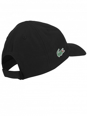 Lacoste Novak Djokovic Pro Athlete Logo Tennis Cap Hat Black ... 4d3999addc9