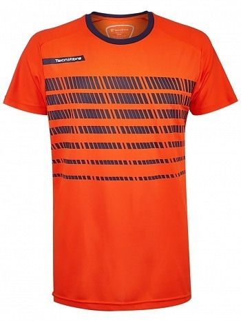 Tecnifibre ATP Pro Player Logo Men's F2 Airmesh 360 Tennis Crew Shirt, Orange