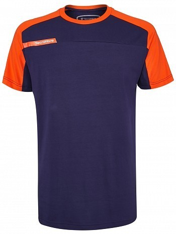 Tecnifibre ATP Pro Player Logo Men's F1 Stretch & Mesh Tennis Crew Shirt, Navy