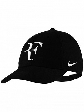 a719ad3db3d Nike Roger Federer ATP Master French US Open RF Hybrid Heritage 86 Tennis Hat  Cap Black