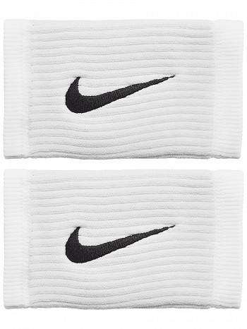 Nike ATP Master Pro Player Dri-Fit Reveal Swoosh Doublewide Tennis Wristbands,  White / GreY / Black