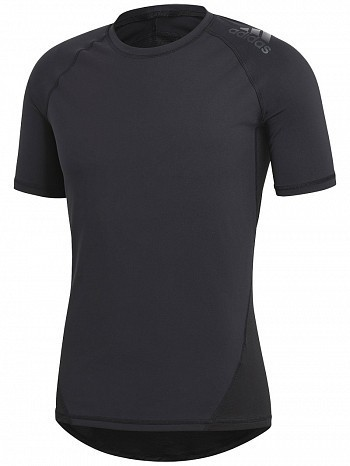 Adidas Pro Player ATP Tour Men's Alphaskin Short Sleeve Crew Top Shirt, Black