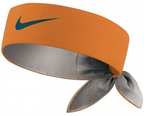 Nike Roger Federer Rafael Nadal Dri-Fit Tie Up Headband Bandana, Orange / Black
