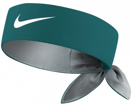 Nike Roger Federer Rafael Nadal Dri-Fit Tie Up Headband Bandana, Dark Green / White