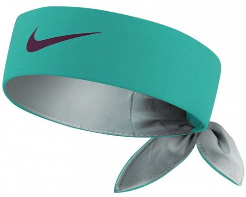 Nike Roger Federer Rafael Nadal Dri-Fit Tie Up Headband Bandana, Green / Black