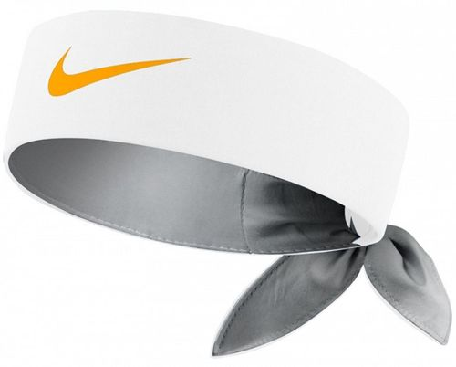 Nike Roger Federer Rafael Nadal Dri-Fit Tie Up Headband Bandana,  White / Orange