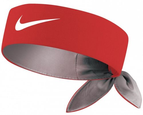 Nike Roger Federer Rafael Nadal Dri-Fit Tie Up Headband Bandana,  Red / White