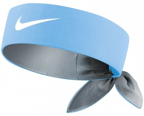 Nike Roger Federer Rafael Nadal Dri-Fit Tie Up Headband Bandana, Blue / White