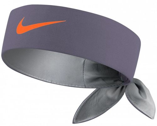 Nike Roger Federer Rafael Nadal Dri-Fit Tie Up Headband Bandana, Grey / Orange