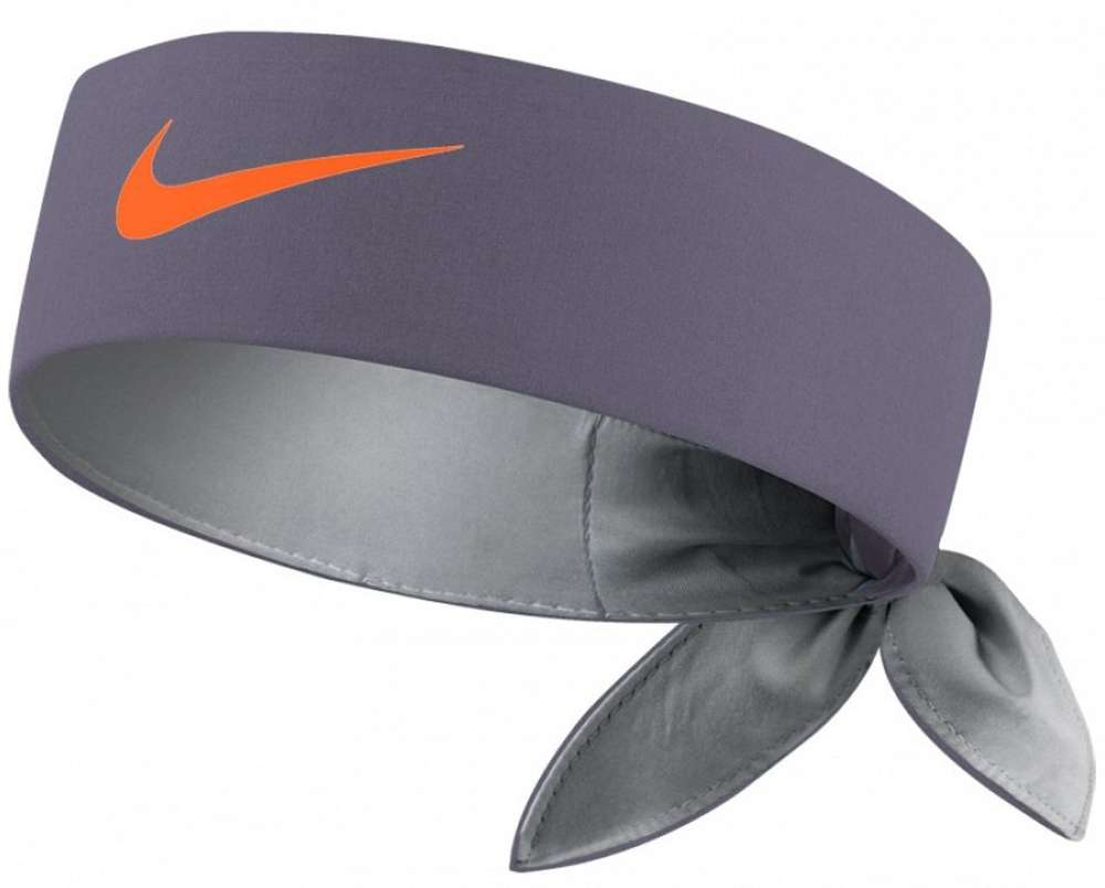 6d81f4e1 Nike Roger Federer Rafael Nadal Dri-Fit Tie Up Headband Bandana, Grey /  Orange - TennisHeart.co.uk