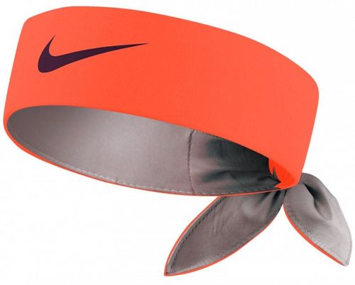 Nike Roger Federer Rafael Nadal Dri-Fit Tie Up Headband Bandana, Red / Black