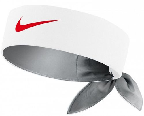 Nike Roger Federer Rafael Nadal Dri-Fit Tie Up Headband Bandana, White / Red