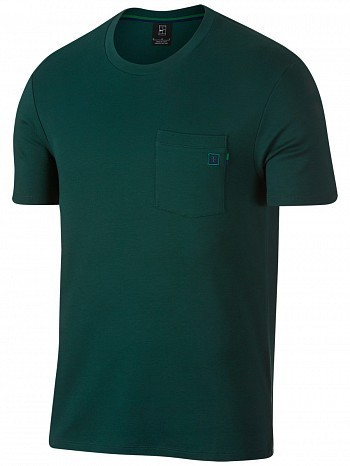 Nike Roger Federer ATP Master Tour Men's Court RF Essential Tennis Crew Tee Shirt Green