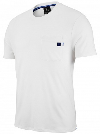 Nike Roger Federer ATP Master Tour Men's Court RF Essential Tennis Crew Tee Shirt White