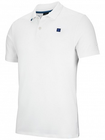Nike Roger Federer ATP Master Tour Men's Court RF Essential Tennis Polo Shirt White