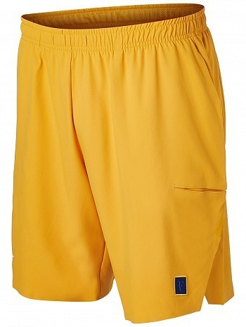 "Nike Roger Federer US Open Men's RF Court Flex Ace 9"" Tennis Shorts 23cm, Yellow"