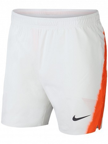 "Nike Rafael Nadal 2018 US Open Men's Court Flex Ace 7"" Tennis Shorts 18cm, White"