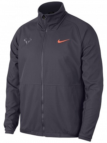 Nike Rafael Nadal 2018 French Open Court RAFA Premier Tennis Jacket Grey