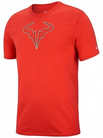 Nike Rafael Nadal 2018 US Open Rafa Dry Tennis Tee Shirt Red