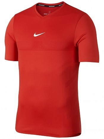 Nike Rafael Nadal 2018 ATP Master Tour Men's Court AeroReact Rafa Tennis Crew Shirt Red