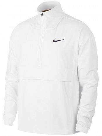Nike ATP Pro Player Wimbledon Open Men's Court Stadium Woven Tennis Jacket White